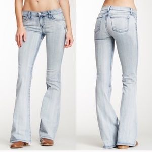 J Brand Afterlife Light wash flare jeans